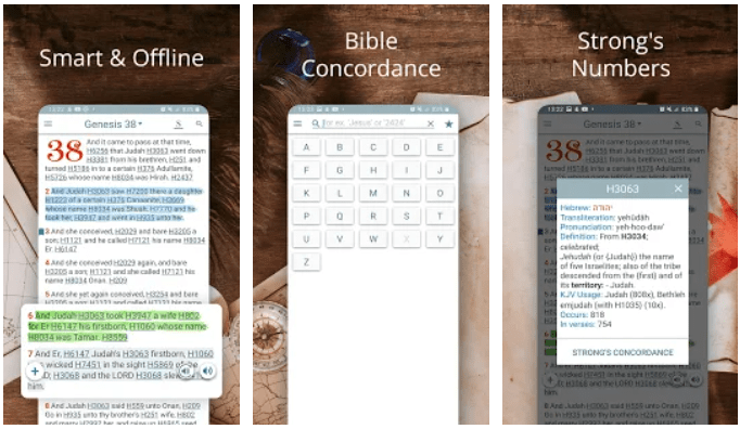 Bible Concordance and Strongs app on Windows