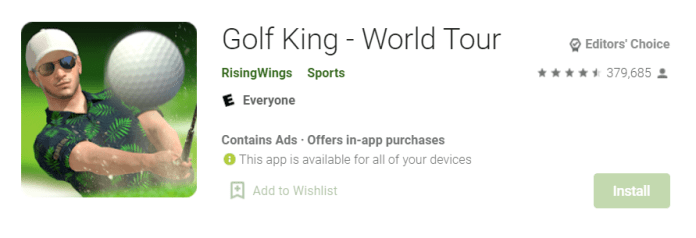 Golf King for Mac