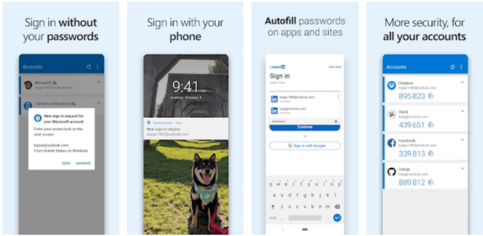 Microsoft Authenticator app on Windows