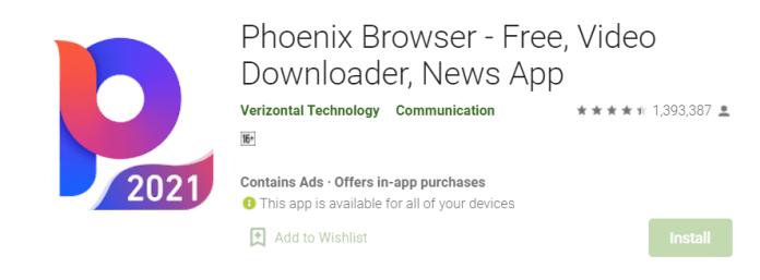 Phoenix Browser for Mac