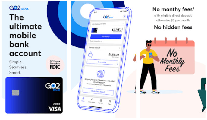 Go2Bank app on Windows