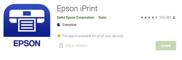 Epson iPrint for Mac