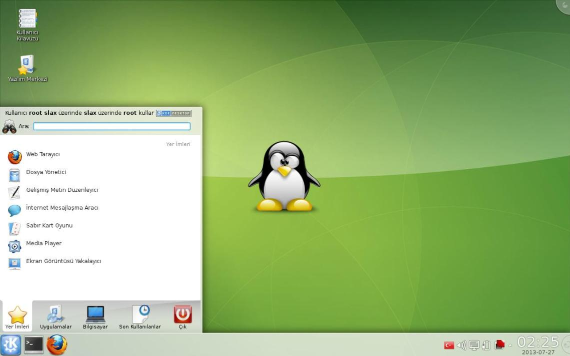 Slax Desktop with KDE