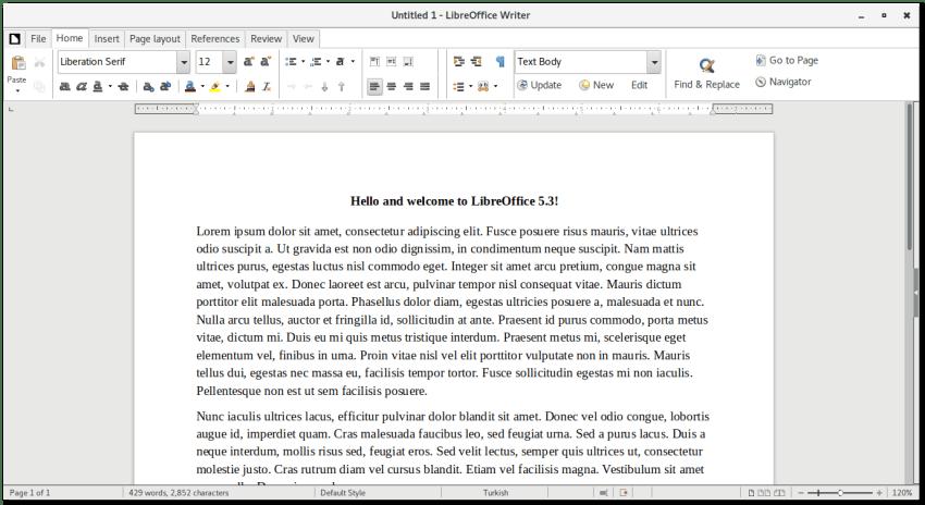 Libreoffice 5.3 Notebook Toolbar Mode