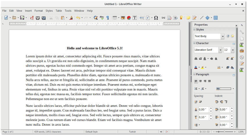 Libreoffice 5.3 Sidebar Toolbar Mode