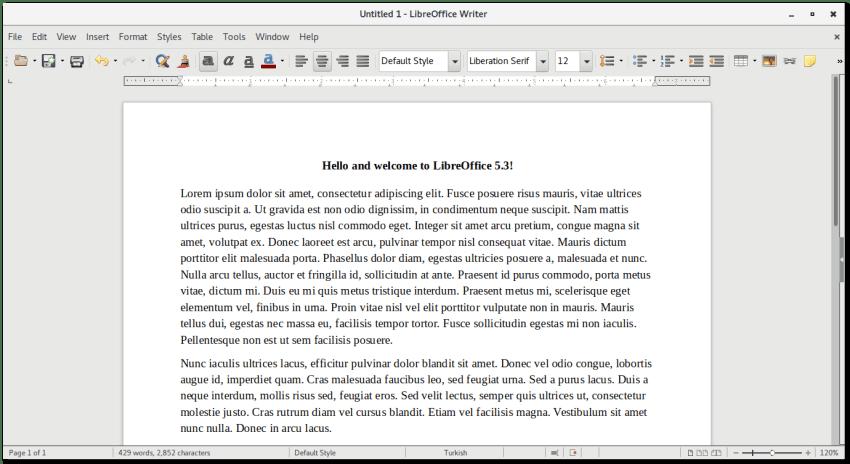 Libreoffice 5.3 Single Toolbar Mode