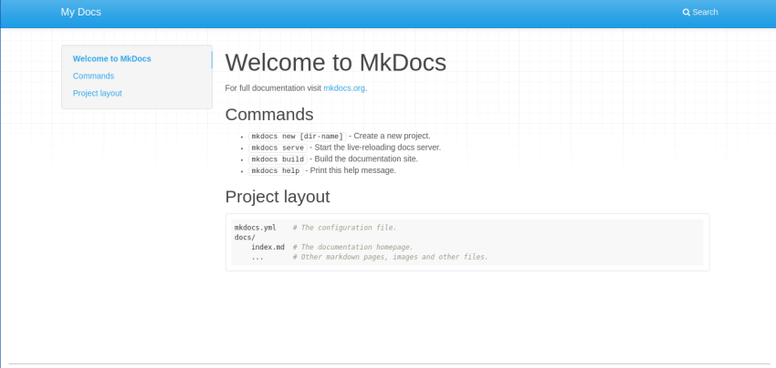 Documentation Software MkDocs