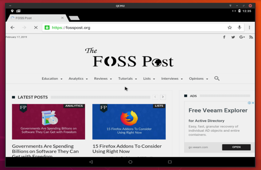 Install Android 8 1 Oreo on Linux To Run Apps & Games | FOSS