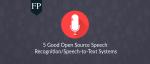 255 open source speech recognition