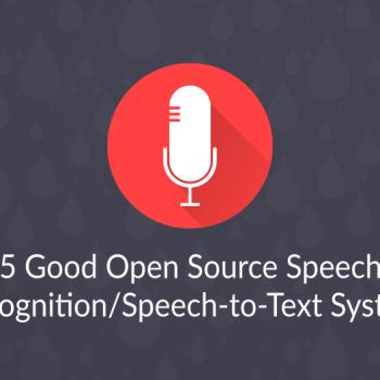 253 open source speech recognition