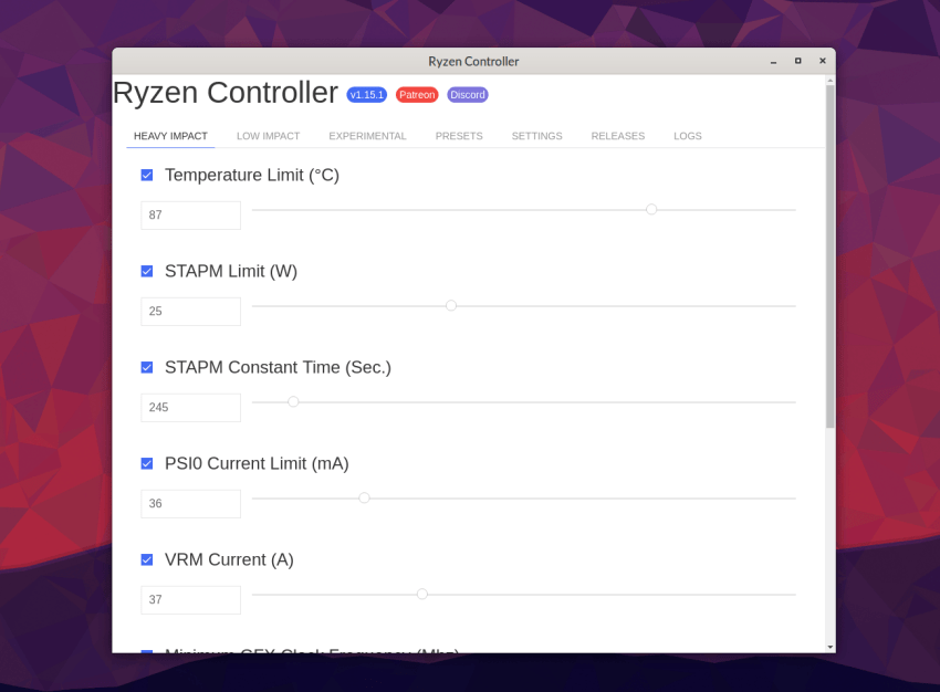 Overclock your AMD Ryzen Mobile on Linux with Ryzen Controller 13