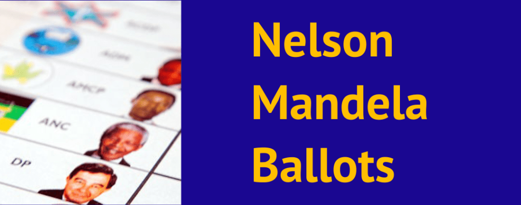 Authentic Nelson Mandela Ballots