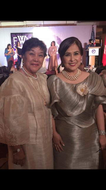 With Fellow FWN100 (2015) Awardee Niña Aguas, CEO of Insular Life
