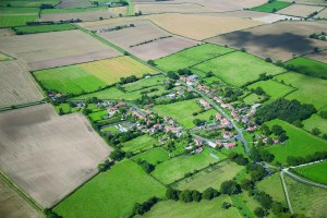 Aerial view of Thornton-le-Clay