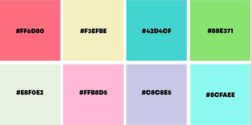 paleta pastel colores