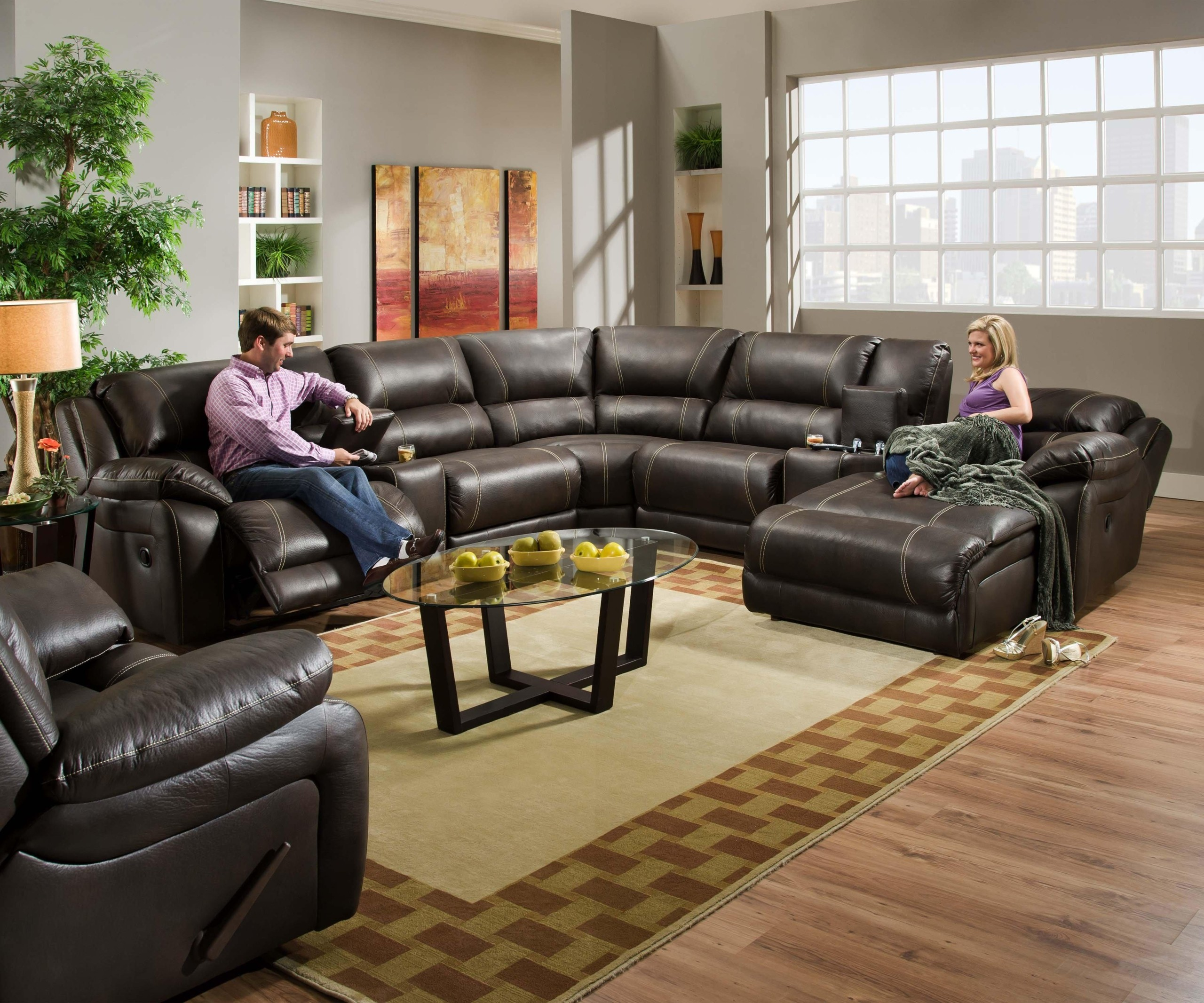 theater sectional reclining sofa
