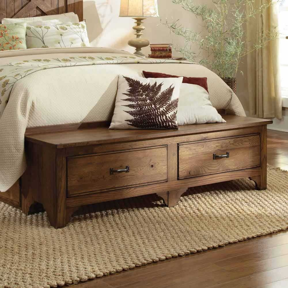 storage bench for foot of bed ideas