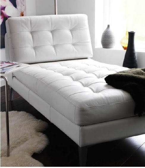 white leather chaise ideas on foter