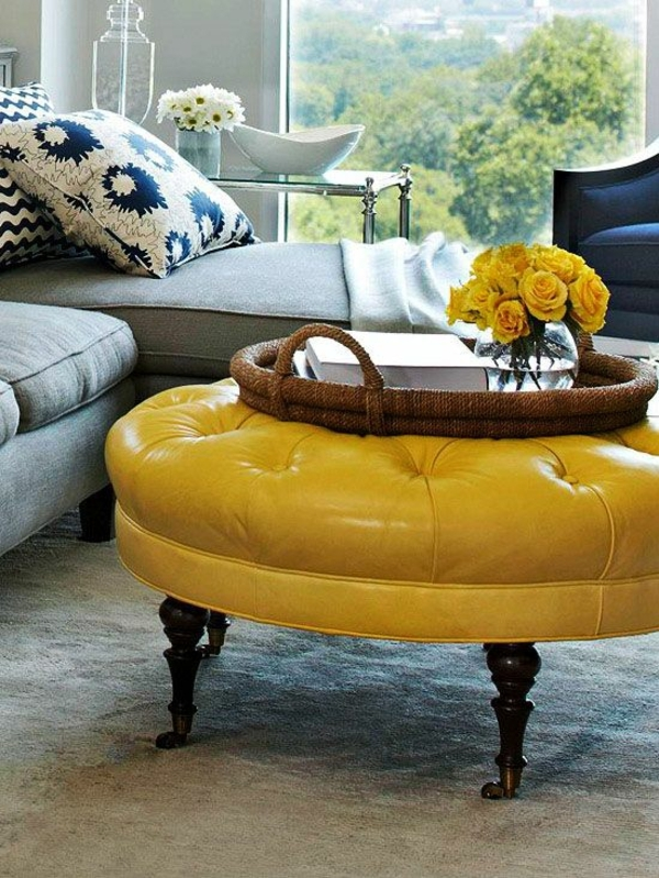 yellow ottomans ideas on foter