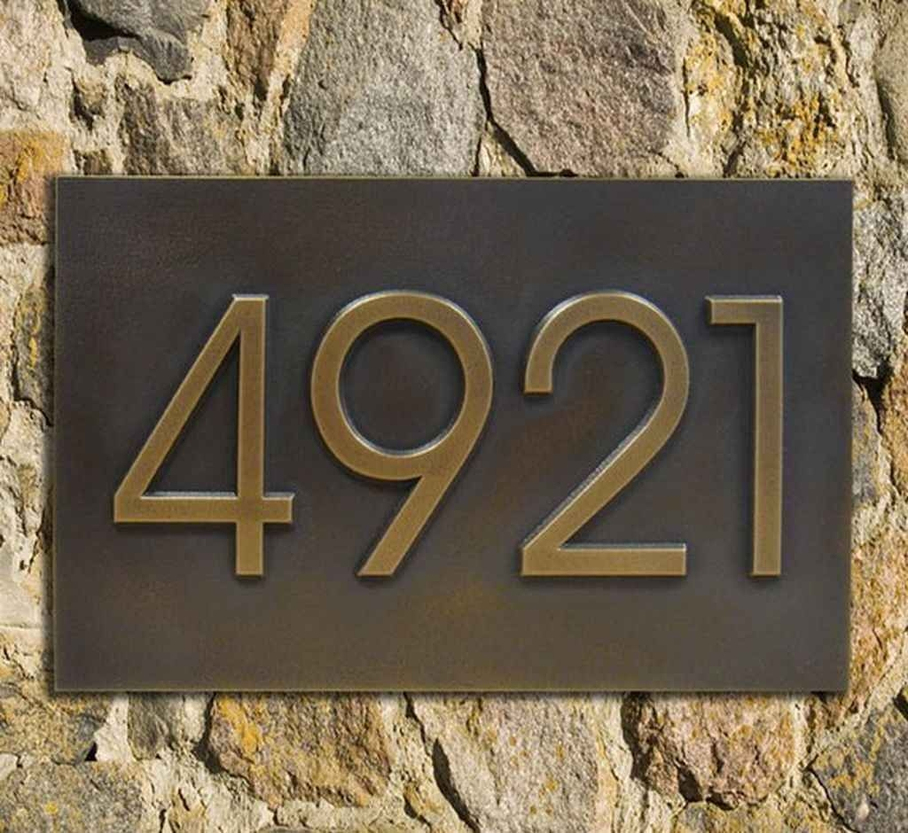 Metal Address Plaques   Foter Modern home address advantage numbers 4