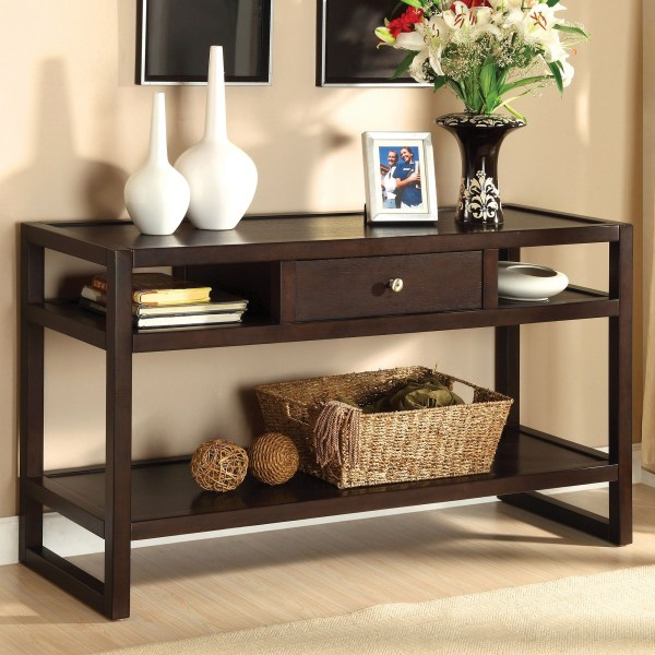 Sofa Table With Storage Drawers   Foter Sofa table with storage drawers