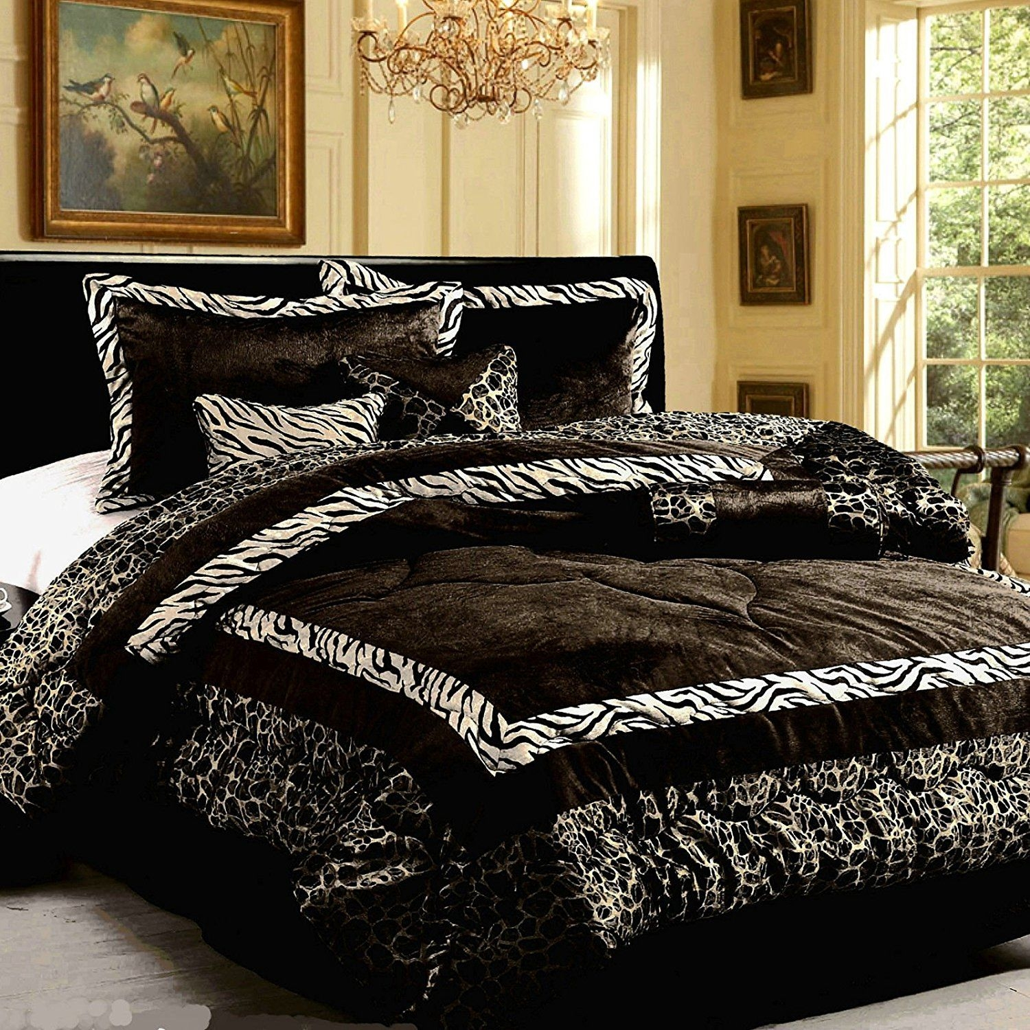 king size animal print comforter set