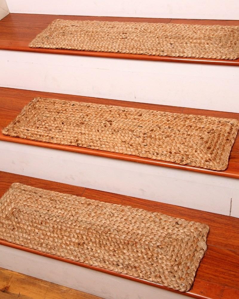 Jute Stair Treads Ideas On Foter | Modern Carpet Stair Treads | Beige Carpet | Wood | Basement Stairs | Grey | Modern Trellis