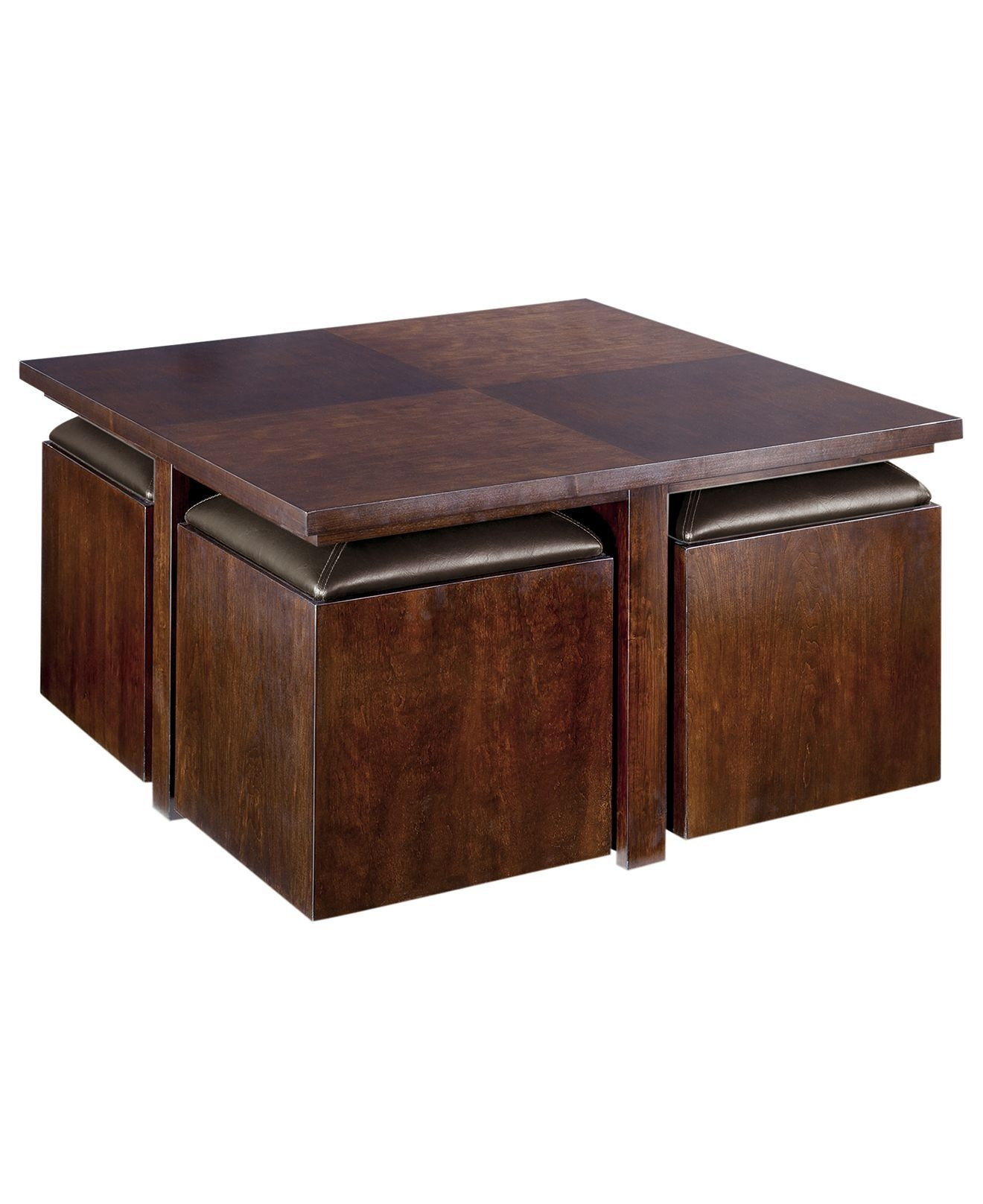 coffee table with seating cubes ideas