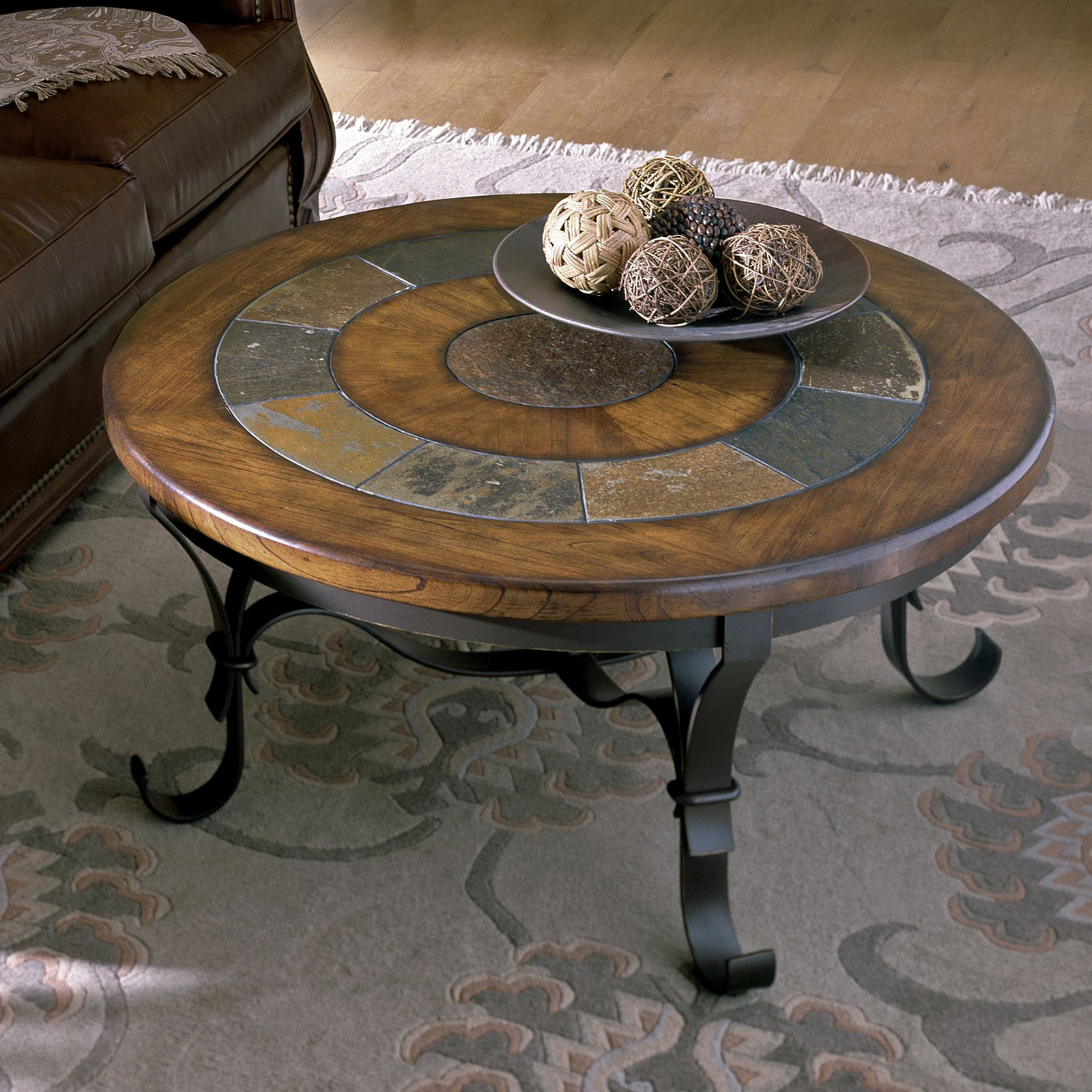 round slate coffee table ideas on foter
