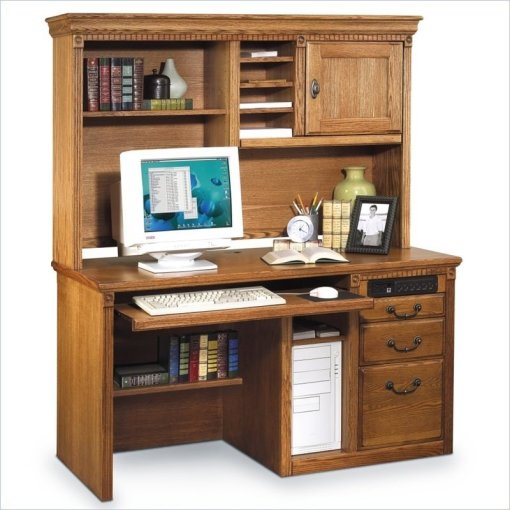 Wood Computer Desk With Hutch   Foter Wood computer desk with hutch