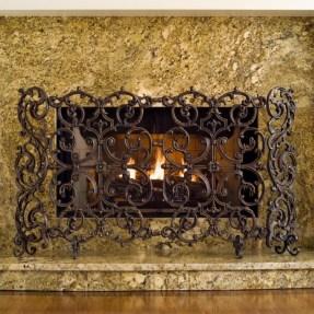 Wrought iron fireplace screens sale moheganfd wrought iron fireplace screens decorative teraionfo
