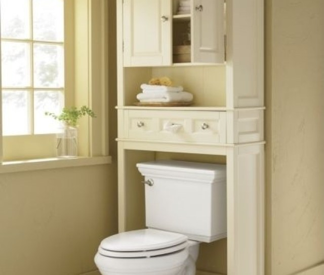 White Over The Toilet Storage