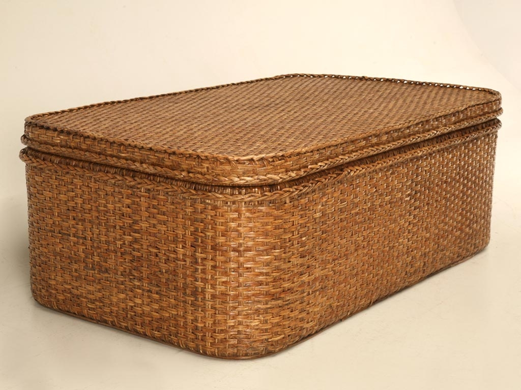 rattan coffee table trunk ideas on foter