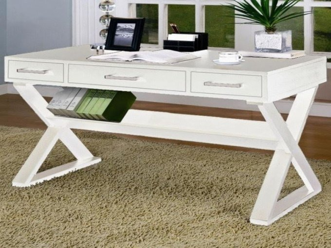White Writing Desk With Drawers   Foter White writing desk with drawers