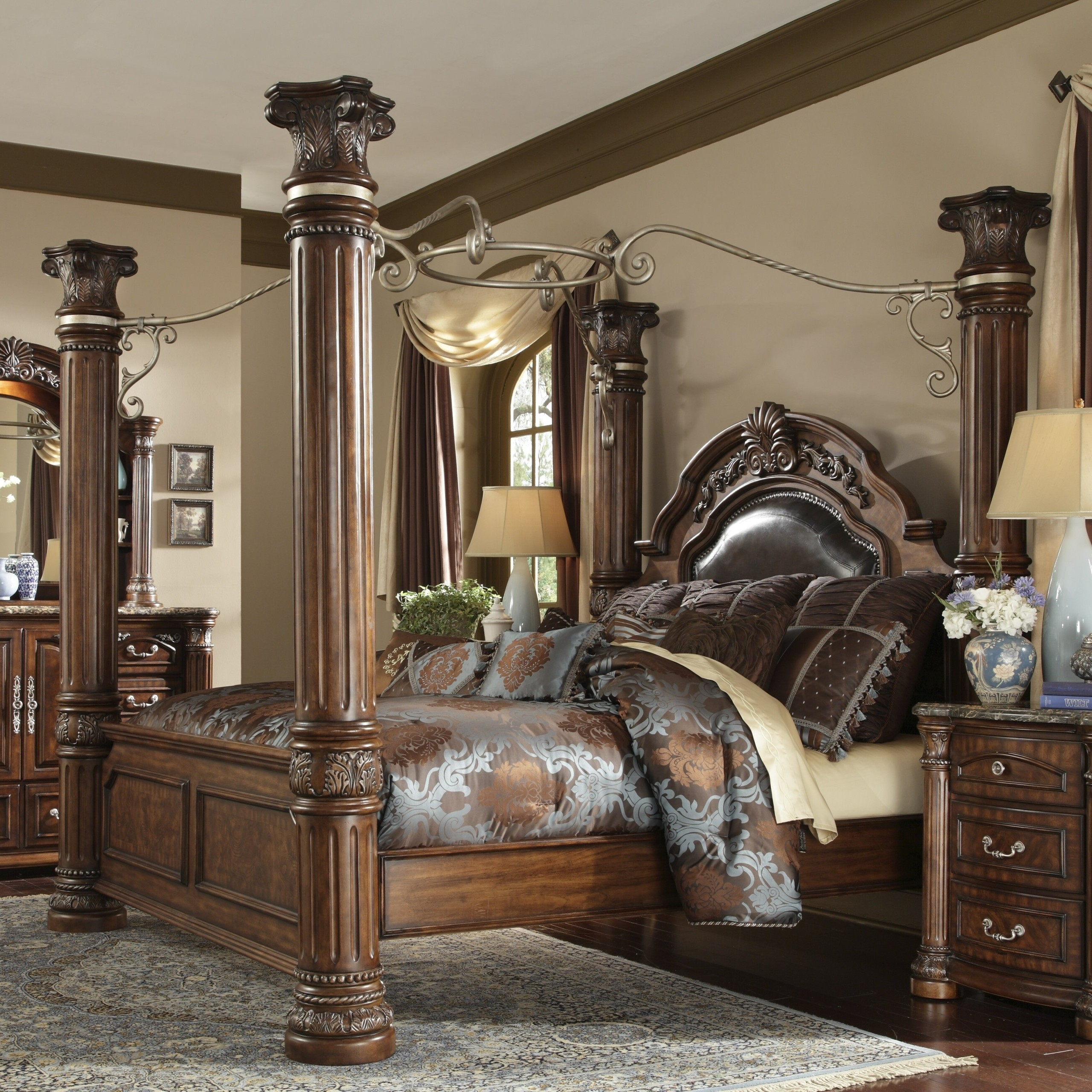 four post king size bedroom sets