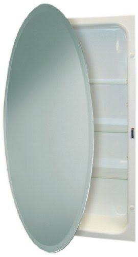 recessed oval medicine cabinet - foter