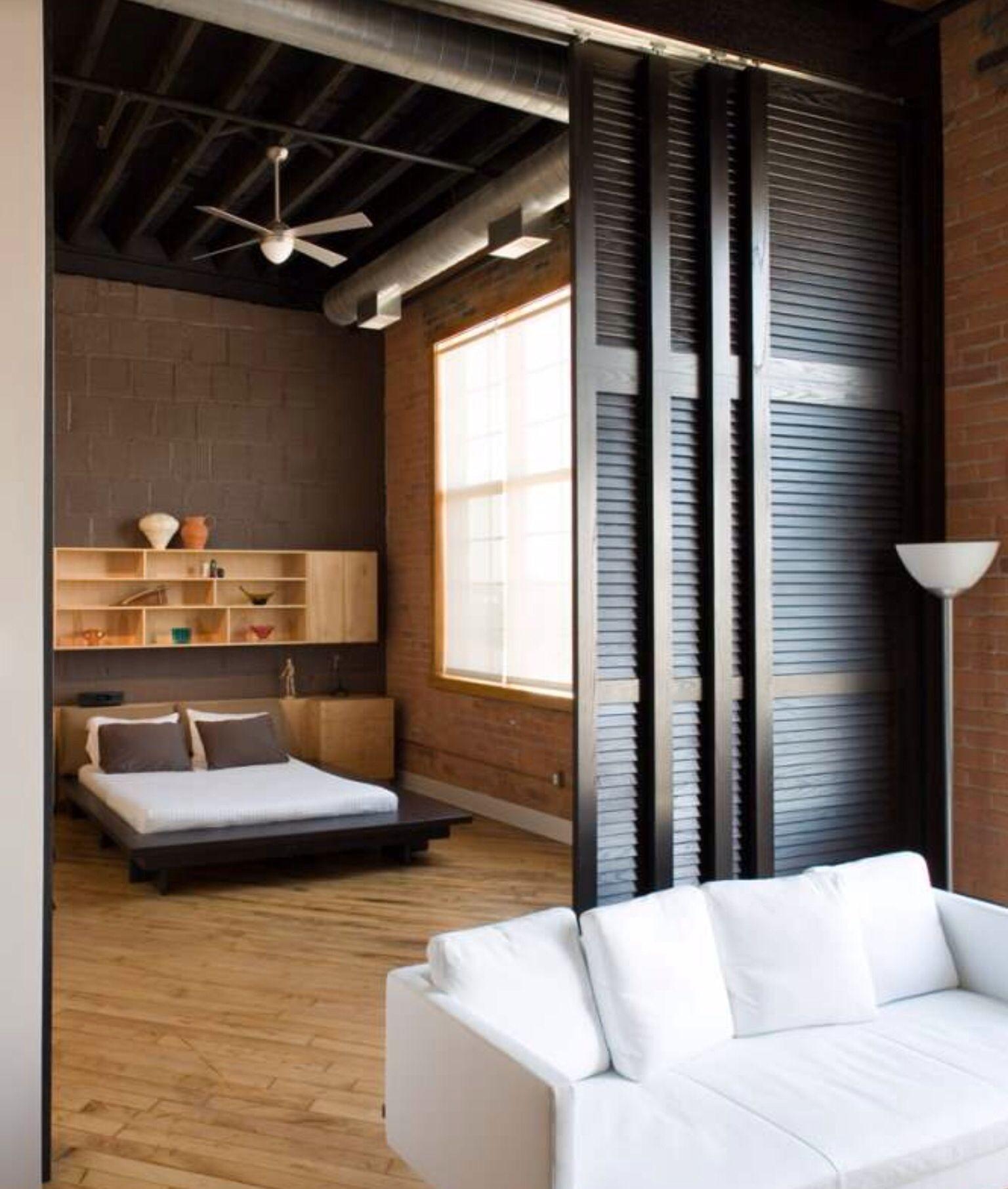 sliding hanging room dividers ideas