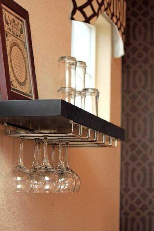 wine glass holder shelf ideas on foter