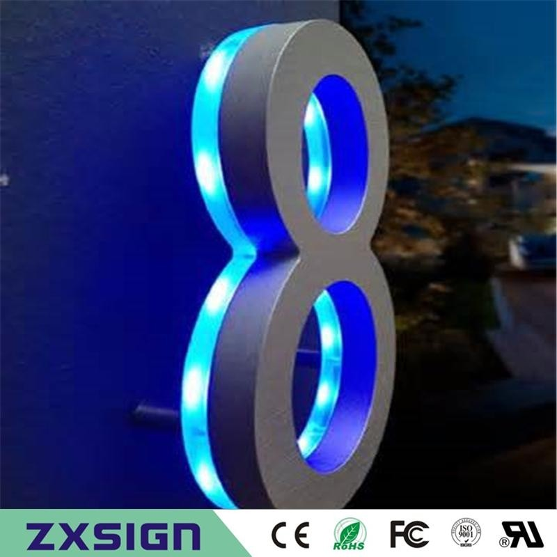 Light Up House Numbers   Foter Led house numbers signage apartment number signs contemporary house numbers