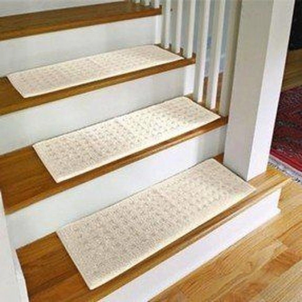 Carpet Treads For Wood Stairs Ideas On Foter | Outdoor Carpet For Steps | Front Entrance | Marine | Navy Pattern | Rubber | Diy