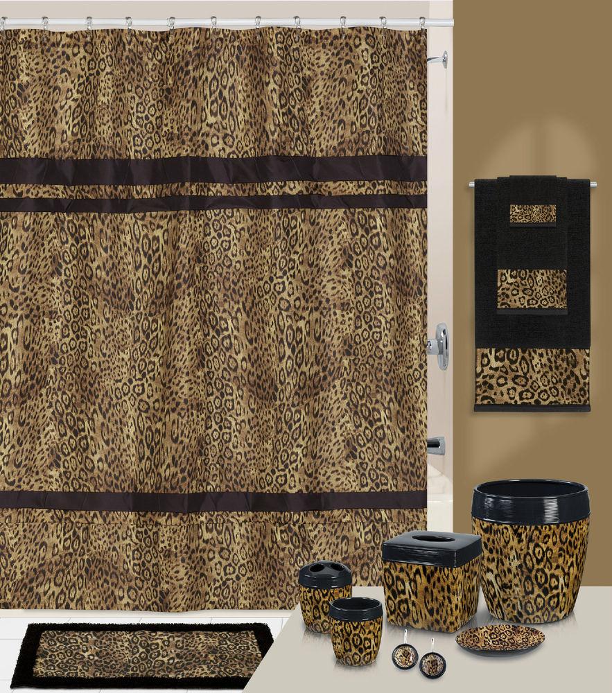 leopard print shower curtain ideas on