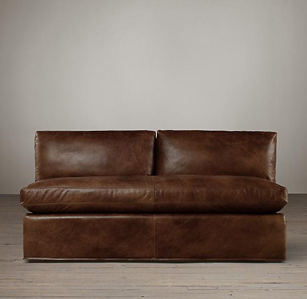 armless leather sofa ideas on foter