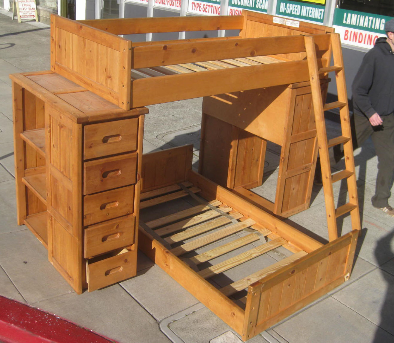 Bunk Bed With Desk And Drawers Foter