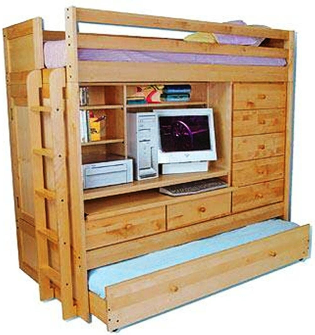 bunk bed with dresser and desk ideas