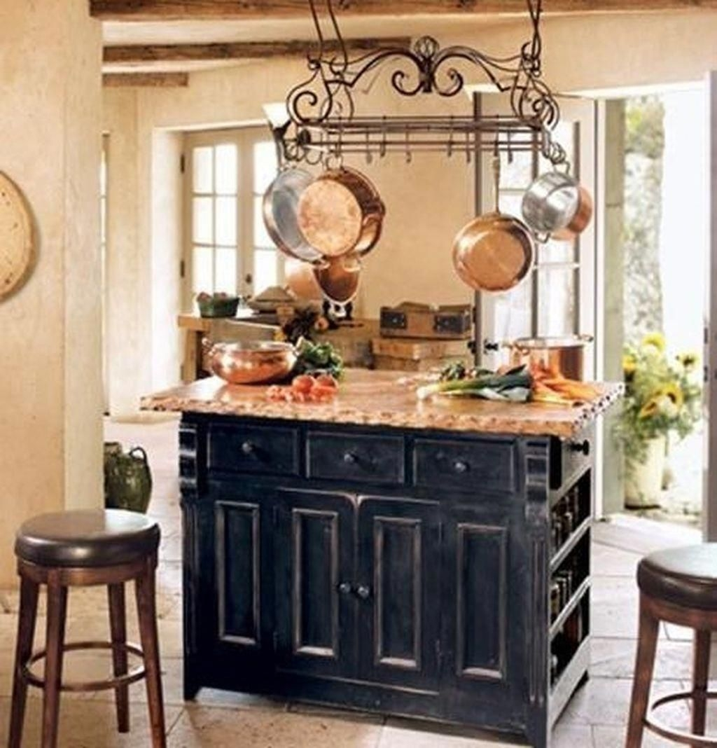 28 rustic french farmhouse pan rack