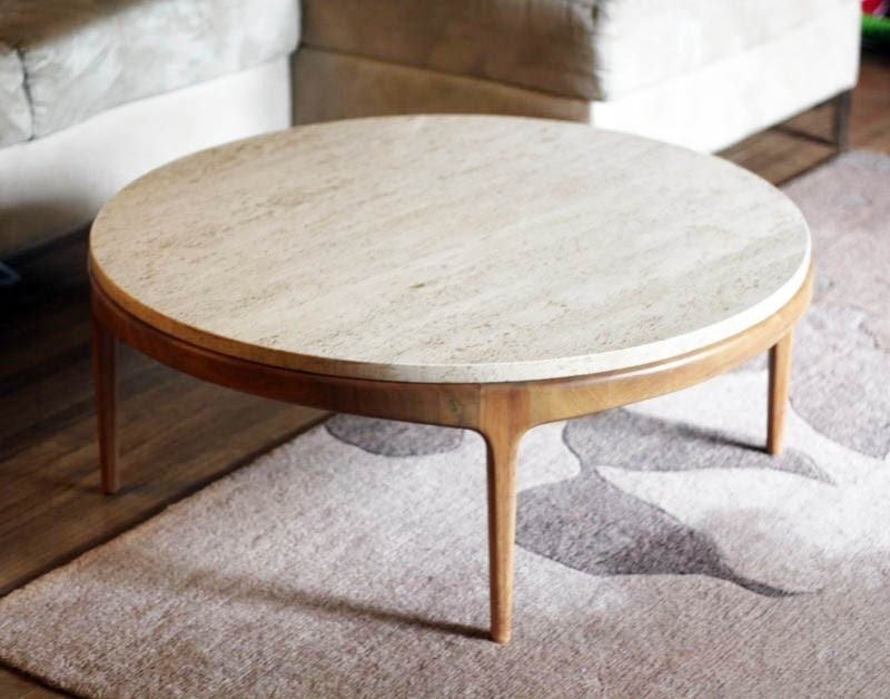 marble top round coffee table ideas