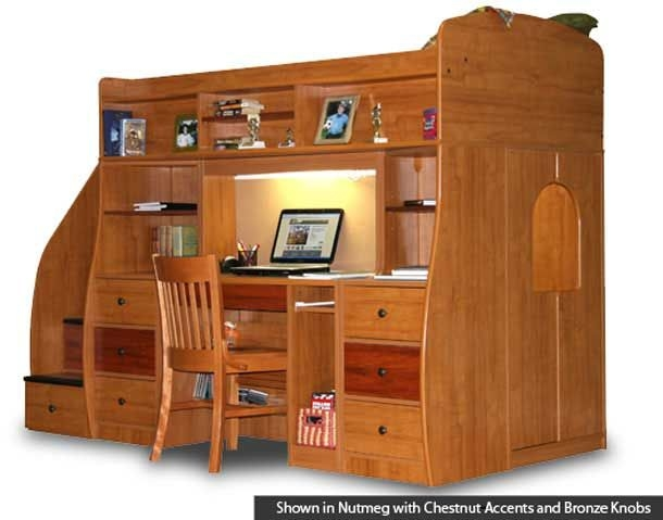 loft bed with desk and dresser ideas