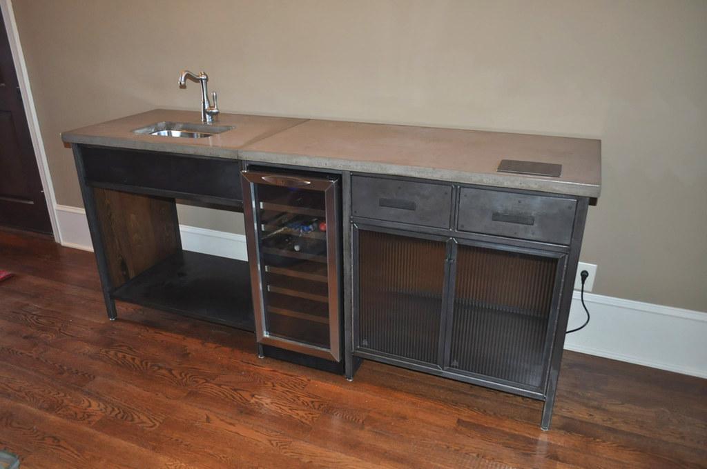 bar cabinet with wine refrigerator