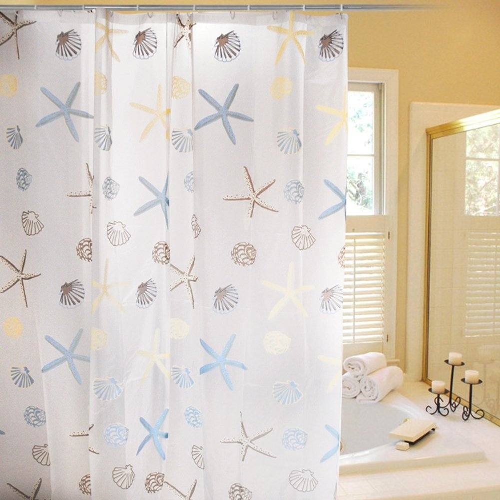 Seashell Fabric Shower Curtain Ideas On Foter
