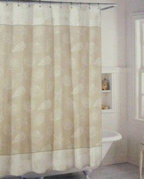 Seashell Fabric Shower Curtain Foter